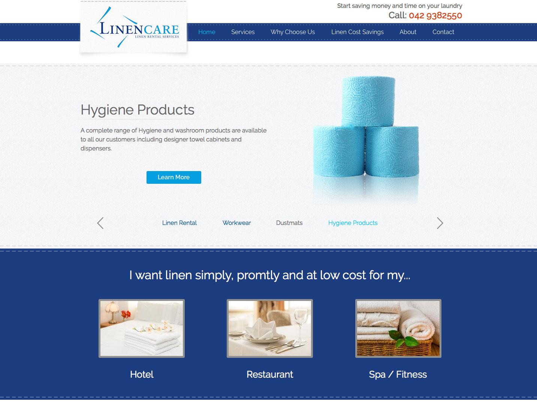 Linencare.ie website preview