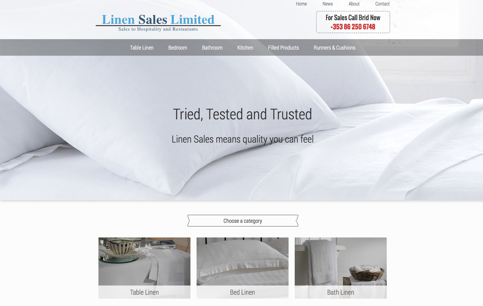 Linensales.ie website preview
