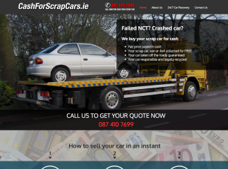 Cash For Scrap Cars website preview