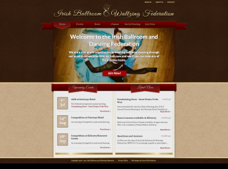 ballroomdancing website screenshot