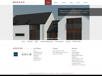 Morgan Architects website preview